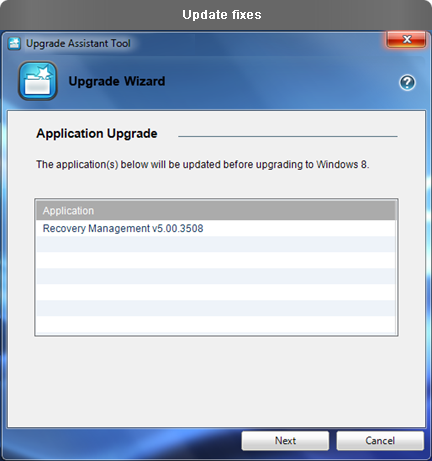 Upgrade Assistant Tool
