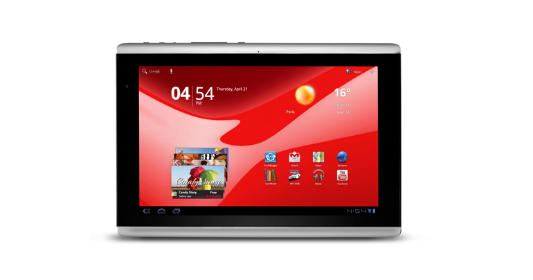 Tablet G100 16GB wifi Android 3.0 Red